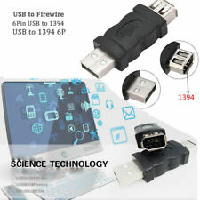 Firewire IEEE 1394 6 Pin Female to USB Type A Male Extension Adapter Connector .