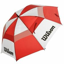 "Wilson 62"" Inch Dual Canopy Storm Proof Golf Umbrella - Red/White"