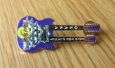 HARD ROCK CAFE OSAKA SAVE THE PLANET GUITAR SHAPED ENAMEL PIN BADGE
