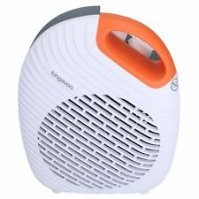 2KW 2000W Electric Upright Two Tone Orange Blow Fan Heater Hot or Cold Air