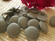 lot 24 boutons gris lisse à pied 1,6 cm couture mercerie ref 2244