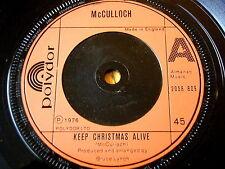 """McCulloch mantener con vida-Navidad Vinilo De 7"""""""