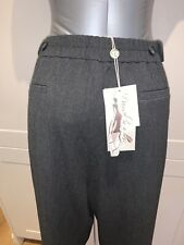 """New/Tags Damsel In A Dress 18 UK 36"""" Grey Marl Stretch Back Elasticated Trousers"""