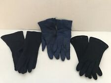 Vtg 3 Pair Black Blue Navy Leather Beaded Van Raalte Fownes Bros. Size M 7 1/2