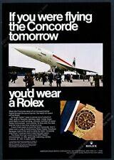 1968 Rolex GMT Master watch Concorde plane color photo vintage print ad