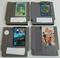 Lot of 4 Nintendo NES Carts Pro Wrestling Ikari Warriors Hoops Commando