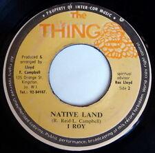 I-ROY: Native Land / Water-rate 45 Hear! (Jamaica) Reggae