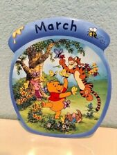 Disney Winnie the Pooh The Whole Year Through March Plate Bradford Exchange