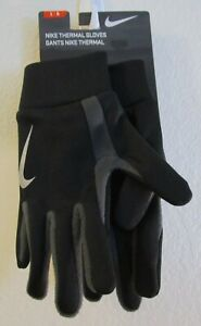NWT Nike Adult Thermal Running Training Gloves L Black/Grey/Silver