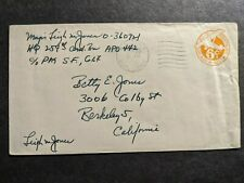 Apo 442 Leyte, Philippines or Australia Censored Wwii Army Cover 259th Ord Bn