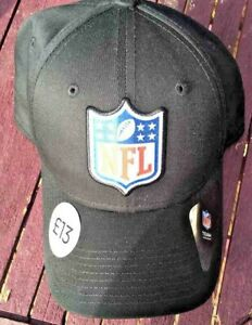 NFL BASEBALL CAP ~ BLACK ONE SIZE ADJUSTABLE BRAND NEW WITH TAGS BY NEW ERA