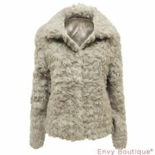 1e745a707e1 Faux Fur Grey Casual Coats