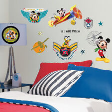 RoomMates Wall Stickers Disney Mickeys Clubhouse Pluto Donald Pilot Wall Decals