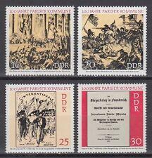 DDR East Germany 1971 ** Mi. 1655/58 Pariser Kommune Politik Politics Frankreich
