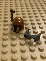 Lego Minifigure Head Piece Star Wars Jango Fett Helmet Lego Head Star Wars 4