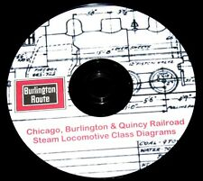 Chicago Burlington & Quincy RR CB&Q Steam Loco Class Diagram PDF Pages on DVD