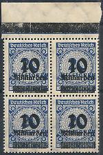 MiNr. 335APa OPD Königsberg im Viererblock vom Plattenoberrand C und Plf.HT (2)