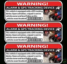 GPS TRACKING CAR ALARM WARNING Sticker Decal anti-theft JDM car bike boat Window