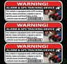 GPS TRACKING CAR ALARM WARNING Sticker Decal anti-theft JDM car bike boat Window