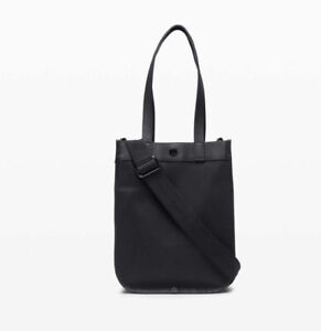 Lululemon NWT Now And Always Tote Bag Mini! Black - Sealed!! Leather Trim