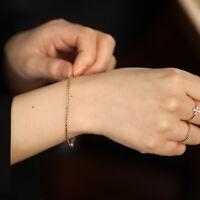 Thick Rolo Chain Bracelet, Simple Gold Chain Bracelet, 14K Solid Gold