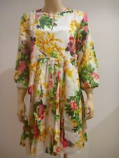SPICE ROAD White Floral Kurta Ladies One Size NEW NWT