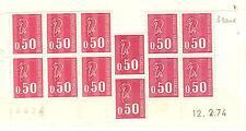 YVERT N° 1664c x 12 MARIANNES DE BEQUET 3 BANDES DE PHOSP TIMBRES FRANCE NEUF **