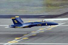 Blue Angels Jet Landing 12x18 Silber Halogenlampe Fotodruck