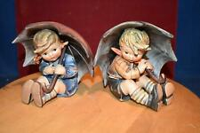 "Pair Goebel Hummel #152/0A Umbrella Boy, Umbrella Girl #152/0B Tmk5 5"" Mint"
