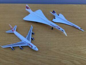 CORGI BRITISH AIRWAYS BOEING CONCORDE DIECAST MODEL PLANES BUNDLE **NO RESERVE**