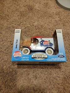 GEARBOX 1912 FORD PEPSI COLA DELIVERY CAR REPLICA W/ KEYSTONE COPS COIN BANK