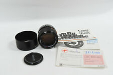 Canon FD 85mm f 1.8 S.S.C. Lens with Lens Hood - FD Mount - Made in Japan