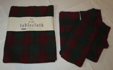 "Tag Tablecloth 52"" X 52"" & 4 Napkins 19"" X 19"" square red green plaid Holiday"
