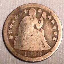 ~ 1850 US Seated Liberty Dime 10 Cents