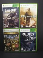 (4) Xbox 360 Call of Duty Lot Modern Warfare 2 Ghosts Advanced Warfare COD 3 x4