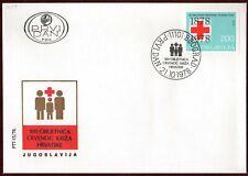 FDC 1978 Yugoslavia Red Cross Croatia Humanitarian Organisation Health