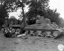 Photo. WW2. France. Tow Truck Wrecker & Tank