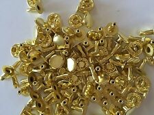 Solid brass single cap rapid rivets 9 mm cap 100 pair