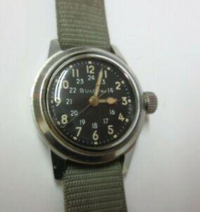 1956-62 Bulova Military Issue Wristwatch MIL-W-3818A (Works)