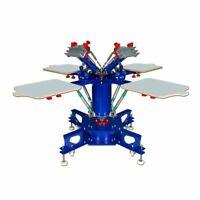 4-4 Station Floor Type Micro-registration Double Wheel Screen Printing Press