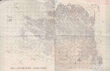 Vintage Bellefontaine Cemetary St. Louis Missouri Map