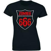 Zombie 666 Shirt Metal Rock Goth Horror Punk Satanic Women's T-shirt Tee