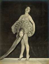 Edwin Bower Hesser Photo, Showgirl Virginia Bell with Mask Fan, 1920