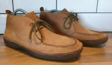 Lands End tan brown suede chukka boots size 10 lace up crepe rubber soles