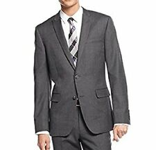 BAR III Mens Blazer Sz 42 Long Grey Slim Fit 2 Button Wool Career Suit Jacket