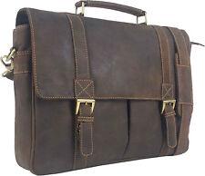 "UNICORN Real Leather 16.4"" Laptop Netbook Ultrabook Messenger Bag - Brown #2J"