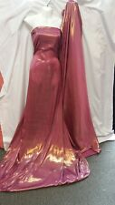 """1 MTR QUALITY  DUSTY PINK AND GOLD SHIMMER SATTIN  FABRIC...58"""" WIDE £3.50 MTR"""
