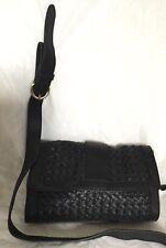 SPORTSCRAFT Black Leather Cross Body/Shoulder Bag / Handbag