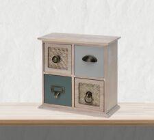 Mini Kommode aus Holz mit 4 Schubladen Schubladenschrank Shabby Chic Landhaus