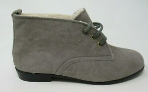 OUTDORABLES DANIEL GREEN WOMEN'S NOMAD GREY LEA. ANKLE BOOTS BOOTIES 7/W, NOS